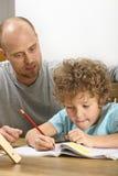 帮助的家庭作业 库存照片