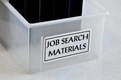 帮助的工作查找材料协助发现就业 库存图片