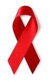帮助知名度红色丝带 库存照片