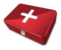帮助第一个工具箱 免版税库存照片