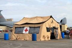 帮助第一个帐篷 库存图片