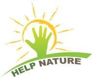 帮助自然设计 免版税库存照片