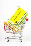帮助购物车第一工具箱购物 免版税库存图片