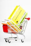 帮助购物车第一工具箱购物 免版税图库摄影