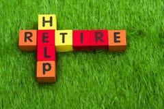 帮助退休 库存照片