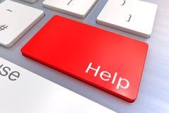 帮助键盘按钮 免版税库存照片