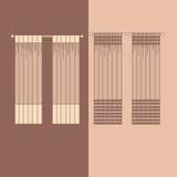 帷幕和布室内装璜设计想法现实象收藏被隔绝的传染媒介例证 图库摄影