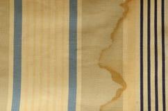 帷幕纹理 与老海军条纹和破旧的作用的百叶窗布料 库存图片