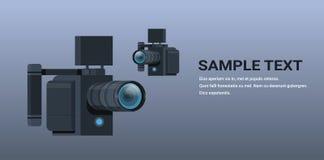 常平架摄像头3轴安定专业设备反震动系统平的拷贝空间另外角度图 库存例证