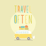 经常旅行 有很多行李的范 库存图片