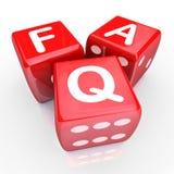 常见问题解答常见问题3个红色模子 免版税库存照片