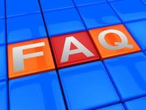 常见问题解答阻拦手段常见问题3d例证 皇族释放例证