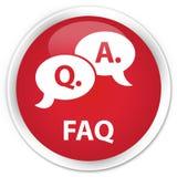 常见问题解答(问答泡影象)优质红色圆的按钮 库存照片
