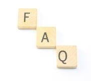 常见问题解答 免版税库存照片