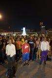 常设人抗议在伊斯坦布尔-土耳其 免版税图库摄影