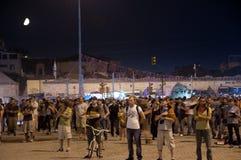 常设人抗议在伊斯坦布尔-土耳其 库存照片
