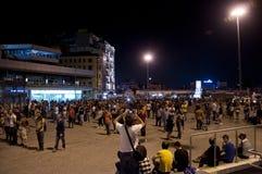 常设人抗议在伊斯坦布尔-土耳其 库存图片