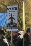 常设岩石抗议在多伦多 免版税图库摄影