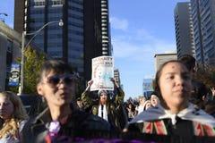 常设岩石抗议在多伦多 免版税库存图片