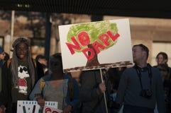 常设岩石抗议在多伦多 库存图片
