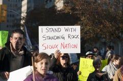 常设岩石抗议在多伦多 库存照片