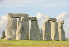 常设石头石henge视图  免版税库存照片