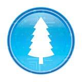 常青针叶树松树象花卉蓝色圆的按钮 库存例证