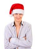帽子人圣诞老人年轻人 库存照片