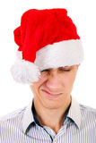 帽子人圣诞老人年轻人 免版税库存照片