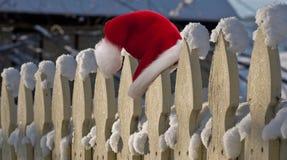 帽子他失去的圣诞老人 免版税库存照片