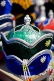 帽子传统khongor的蒙古语 免版税库存图片