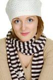 帽子佩带的冬天妇女 免版税图库摄影