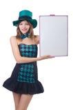 帽子俏丽的妇女年轻人 免版税图库摄影