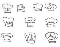 帽子厨师传染媒介集合 免版税图库摄影