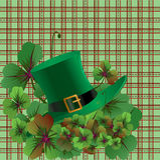 St. Patricks天背景 库存照片
