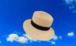 帽子和天蓝色 图库摄影