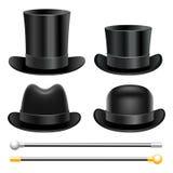 帽子和拐杖 免版税库存照片