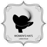 帽子商标夫人的 库存图片