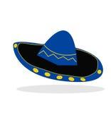 帽子墨西哥流浪乐队 向量例证