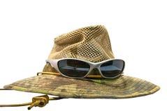 帽子夏天太阳镜 库存图片