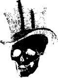 帽子头骨顶层 向量例证