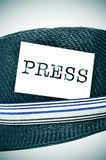 帽子新闻记者 免版税库存照片