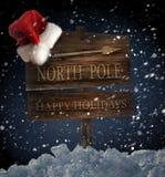 帽子木圣诞老人的符号 库存图片