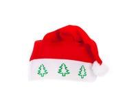 帽子查出圣诞老人 免版税库存照片