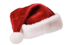 帽子查出的圣诞老人白色 库存照片
