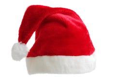 帽子查出的圣诞老人 免版税库存照片