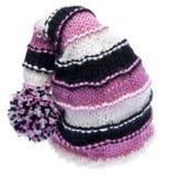 帽子查出的编织白色 免版税库存照片