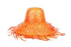 帽子桔子秸杆 库存照片