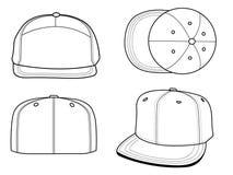 帽子模板 免版税库存照片