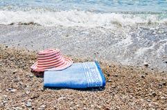 帽子海运星期日毛巾绿松石 图库摄影